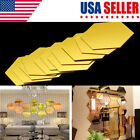 12pcs 3d Mirror Vinyl Removable Wall Sticker Decal Home Decor Art Diy Us