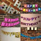 PERSONALISED HAPPY BIRTHDAY PARTY BANNER 1st WITH NAME**HUGE RANGE** SILVER GOLD