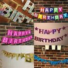 PERSONALISED HAPPY BIRTHDAY PARTY BANNER 1st 13th 18th 21st