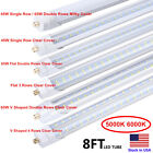 8FT LED Tube Light T8 T12 Single Pin FA8 Bulbs 45W 65W 90W 8Foot LED Shop Light