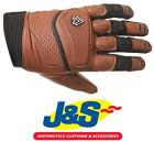 Frank Thomas Thunder A1625 Retro Leather Brown Motorcycle Gloves Classic FT J&S