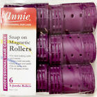 """ANNIE SNAP ON MAGNETIC ROLLERS #1219, 6 COUNT PURPLE X-JUMBO 1-3/4"""""""