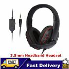 Laptop PC Computer Headphone Stereo Gaming Headband Headset 3.5mm Jack Wired FA