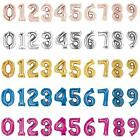 ROSE GOLD SILVER GOLD BLUE PINK BIG FOIL NUMBER HELIUM BALLOON GIANT SUPER SHAPE