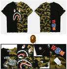 Men's Shark Mouth Double Color Two Colored Camo T-Shirt Tee Size M/L/XL/XXL image