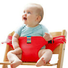 New Portable Seat Cotton Polyester Child High Chair Seat Safety Belt Seat