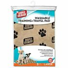 NEW Simple Solution Large Washable Training and Travel Dog Puppy Pad  2 Count