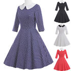 Half Sleeve Housewife Casual Swing Pinup 40's Retro Dress Evening Party Dresses