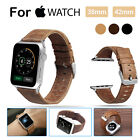 For Apple Watch iwatch Band 42mm 38mm Genuine Leather Wristband Series 1 2 3