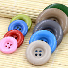 10Pcs 4 Holes Sew on Plastic Buttons Jacket Coats Sewing Craft Multiple Color