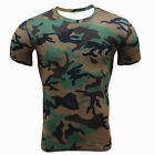 Army Tactical Men Camo Military Short Sleeve Tops Camouflage Casual Gym T-shirt