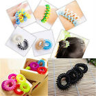 10X Girl Spiral Elastic Rubber Hair Ties Rope Ponytail Holder Bobbles Accessory