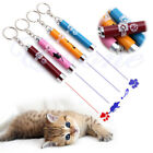 Yellow Mini Pet Toy LED Laser Pointer Pen With Bright Animation Mouse Shadow