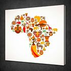 COLLAGE MAP OF AFRICA CANVAS PICTURE PRINT WALL ART FREE FAST DELIVERY
