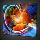 COLOURFUL LIGHT TRAILS ABSTRACT CANVAS PICTURE PRINT WALL ART FREE FAST DELIVERY