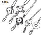 5pcs Multi Styles Lanyard Snap Pendant Necklace Fit 18mm Snap Button Jewelry