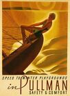 Vintage Pullman Speed To Winter Playgrounds Sailboat Travel Poster Print A3 A4