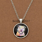 Artistical Animal Pendant Necklace Coloured Painting Picture Cabochon Jewelry 1x