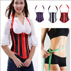 Lot Laceup Boned Overbust Corset Top Waist Training Shaper Bustier Basque 5Sizes