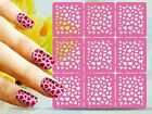 DIY Nail Art Hollow Template Stickers Reusable Stamping Manicure Tool NEW HOT