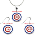 MLB - Chicago Cubs 925 Sterling Silver Team Logo Necklace & Earring Set on Ebay