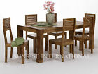 Contemporary Wooden Dining Table with 6 Chair Set (DSET550)