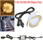 1-50pcs Φ61mm Low Voltage LED Deck Lights Patio Step Outdoor Garden Stair Lamp