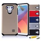 Dual-Layer Hybrid Slim Armour Tough Shockproof Case Cover For LG G6