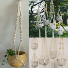 Craft Braided Rope Macrame Hanging Basket Flower Pot Holder Plant Hanger Decors