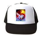 Trucker Hat Cap Foam Mesh Goth Fantasy Good Evil Light Darkness Angel Devil
