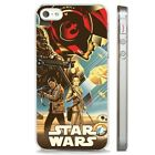 Star Wars BB8 Chewbacca Rey CLEAR PHONE CASE COVER fits iPHONE 5 6 7 8 X