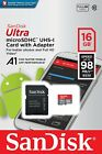 16GB 32GB 64GB 128GB SanDisk ULTRA CLASS 10 micro SD SDXC Flash Memory Card
