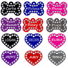 Rhinestone Pet ID Tag Double Sided Engraved Personalized Dog