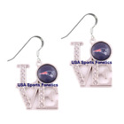 NFL - New England Patriots Team Love Earrings W/Rhinestones & 925 Ear Hooks on eBay