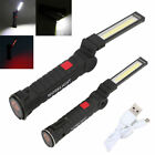 Rechargeable Work Light LED COB Magnetic Car Garage Mechanic Hanging Torch Lamp