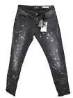 Catch Jeans - Raw Edge Printed Black Jeans For Men