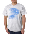 Gildan Short Sleeve T-shirt Sports Hockey Player Motion Shadow Blue