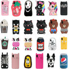 3D Cartoon Disney Silicone Soft Dropproof Kid's Cover Case For iPhone 8 X 7 6 5