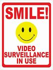 Smile Video Surveillance in Use Security Sign. Size Options. Home Crime Prevent