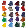 More images of New Scottish Kilt Hose Socks Flashes Various Tartans Acrylic Wool Garter pointed