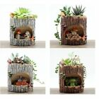 Cute Resin Succulent  Plant Flower Bonsai Planter Pot Bed Vintage Patio Garden