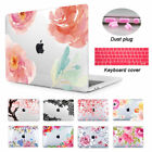 Floral 3D Print Clear Hard Case For Macbook Air 13 Pro 13 15 Retina Touch Bar