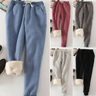 Women Pants Loose Warm Winter Thicken Leisure Trousers Sports Fleece Sportspants