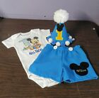 Baby Blue Mickey Mouse outfit for first year birthday boy