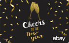 eBay Digital Gift card - Happy New Years Cheers $25 $50 $100 or $200 - Email