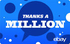 eBay Digital Gift card - Thanks a Million $25 $50 $100 or $200 - Email Delivery