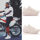 Mens Running Trainers Casual Fitness Gym Sports Comfy Lace Up White Shoes Size
