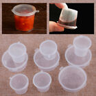 100xClear Small Plastic Sauce Cups Food Storage Containers Clear Boxes with Lid