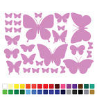 28 Butterfly Stickers Set Any Colour Wall Laptop Glass Car Vinyl Wall Art Name