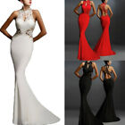 Women Formal Long Wedding Bridesmaid Evening Party Ball Prom Gown Cocktail Dress